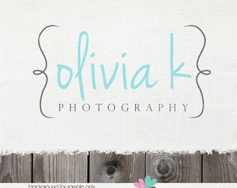 logo - photography logo - Premade Logo - Swirls Logo and Watermark Design Name Text Logo logo design photography logo design watermark logo