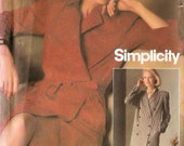 Lined coatdress - Simplicity vintage sewing pattern - Size 10