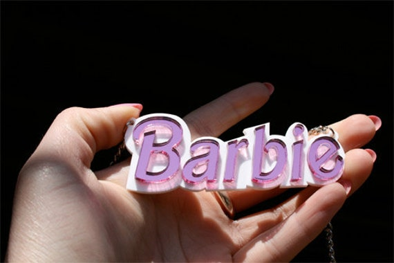 Barbie Necklace Statement Necklace Barbie Pendant Barbie Gift