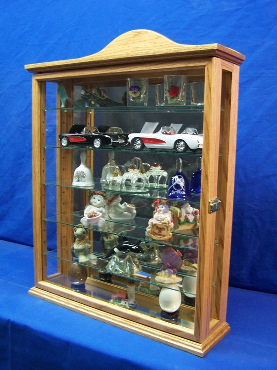 glass display cabinet items similar to oak wall curio cabinet display on etsy 15831