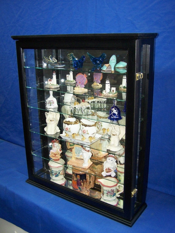 black collectors curio cabinet wall by billscustomwoodworks. Black Bedroom Furniture Sets. Home Design Ideas