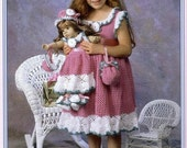 Four Dresses to Crochet for Dolly and me fits American Girl size and girls sizes download pdf through Etsy