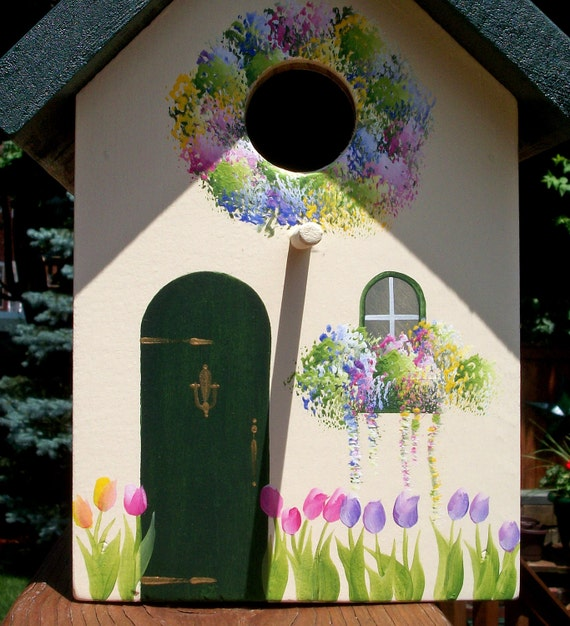 Custom Order For Billy - English Tulip Cottage, Outdoor Bird House