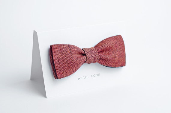 Red bow tie - double sided