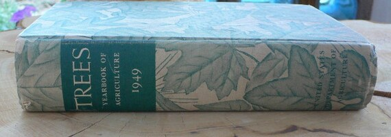 1949 Trees, Yearbook of Agriculture, treehugger leaves,forests stewardship from Diz Has Neat Stuff