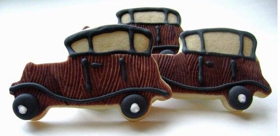 Antique Car Sugar Cookies - 6 Cookies
