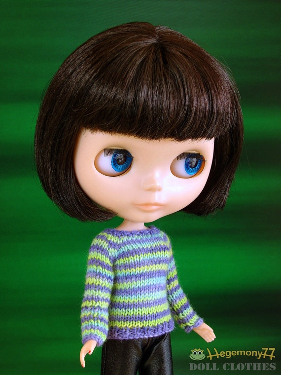 Hand knitted doll sweater for: Blythe, Dal, Monster High size dolls
