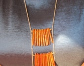 Coral Gold Layered Necklace
