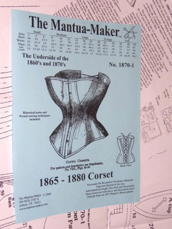 Victorian Corsets – Old Fashioned Corsets & Patterns Victorian Corset Pattern: Multi Sized Sewing Pattern for 1865 - 1880 1870-1 $10.00 AT vintagedancer.com
