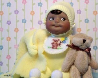 Ethnic Baby in Yellow PJ'S   PRICE CUT