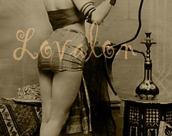 Sexy Hooka... Vintage Erotic Photo Download... Digital Image by Lovalon