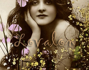 Flower Power... Vintage Glamour Photo... Deluxe Erotic Art Print... Available In Various Sizes
