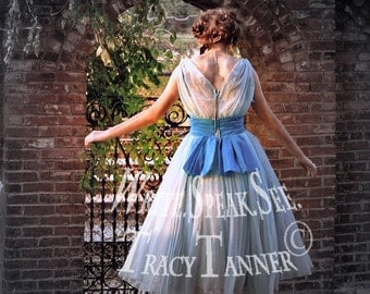 Alice In Wonderland, Rabbit, Rabbit Hole, Blue Dress, Walking, Gate, Cemetery, Headstone, Sunshine, Through The Looking Glass, Magnolia
