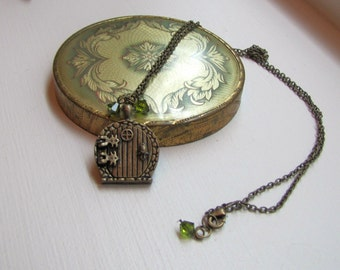 Fairy Door Necklace - Geekery - Tolkien - Fantasy - Costume - Cosplay - Comicon - Gift - Spring - Summer - Easter - Mother's Day - Graduate