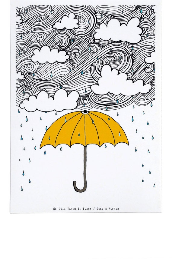 The Yellow Umbrella - Illustration by: Taren S. Black