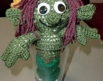 Marina, a little green mermaid doll (handmade)
