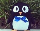 Handmade Plush Penguin Stuffed Animal