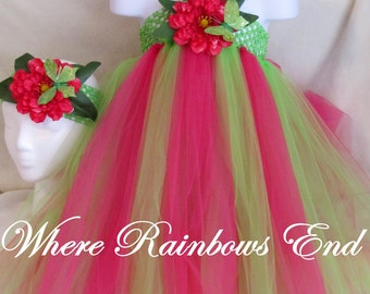Peony Pop Tutu Dress sizes 12-18m, 18-24m, 2t, 3t, 4t, 5t
