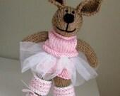 Knitted Bunny Rabbit Ballerina - Child Toy - Stuff Animal - Plush Doll - Hand Knit - Stuff Toy - Kids Toy - Girl Gift - Bunny Rabbit  Nicole