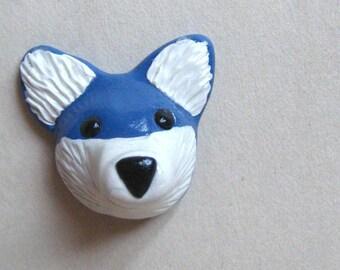 Husky Wolf Dog Magnet - Ready to Ship