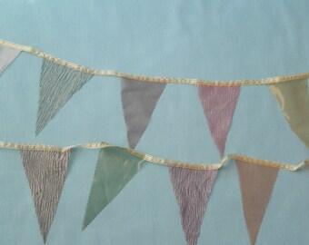 Sheer Metallic Silk Pennant/Banner/Garland