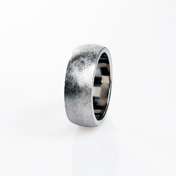 Palladium Ring Mens Wedding Band Unique Wedding Ring Men