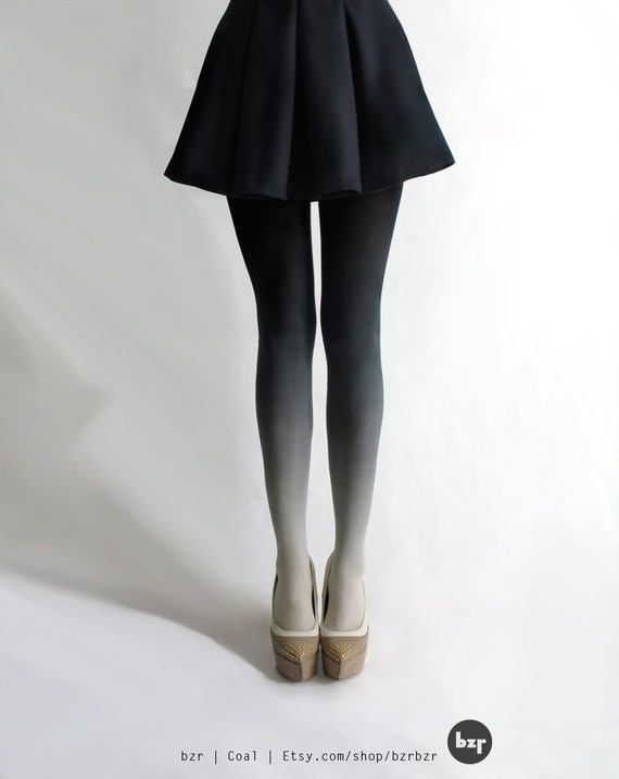 BZR Ombré tights in Coal