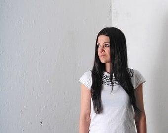 Shirt with Rainer Maria Rilke white XS S M L XL - Handmade Shirt