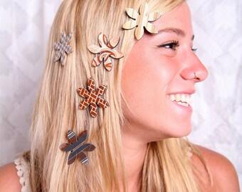 Women hair accessory, Magnet hair clips, Natural colors hair flowers, Hair magnets, Brown hair clips, Women accessories,Natural colors clips