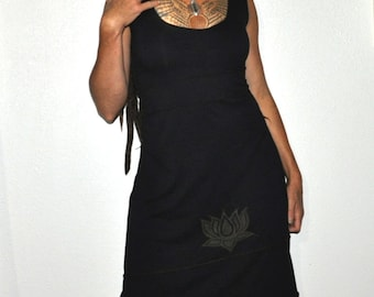 Organic lotus Dress- Made from Organic Cotton and Bamboo Jersey Custom made just for you