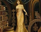 Urania Muse of Astronomy and Philosophy 11x14 Fine Art Print Pagan Mythology Goddess Art