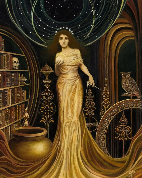 Urania - Muse of Astronomy and Philosophy Fine Art Print