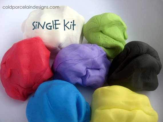 Air Dry Clay / Cold Porcelain Clay - Starter Kit  Basic Colors