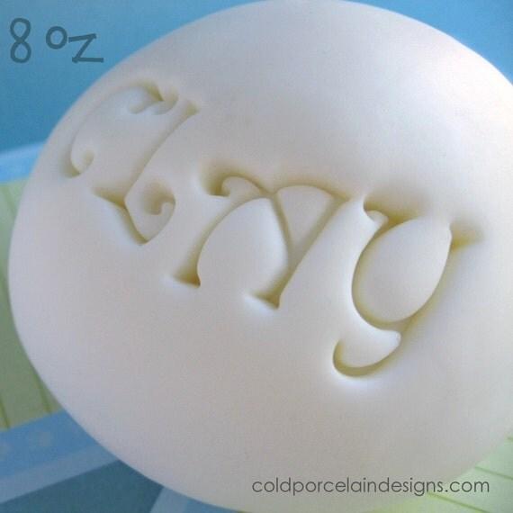 8 oz (0.5 lb) Cold Porcelain Clay / Air Dry Clay -  no color (dries flexible)