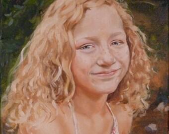 "Oil Portrait on canvas 8x8"" custom"