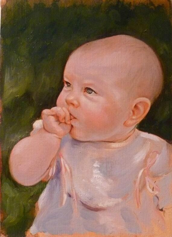 "Custom Oil Portrait 5x7"""
