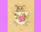Mouse ACEO ATC Artist Trading Card Izzy