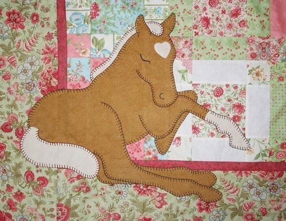 Palomino Dreams -- Applique Baby Quilt Pattern