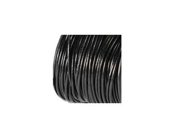 0.5mm Black Leather Cord 41640 (5 yards), Thin Jewelry Cording, Necklace Cord, Bracelet Cording, .5mm Cording, .5mm Leather Cord, Stringing