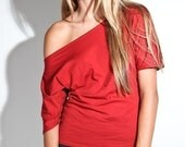 Off The Shoulder Tee Shirt / Womens Clothing Blouse Shirt