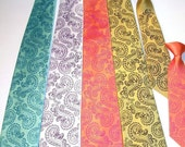 Octopus tie mens microfiber necktie custom colors available print to order