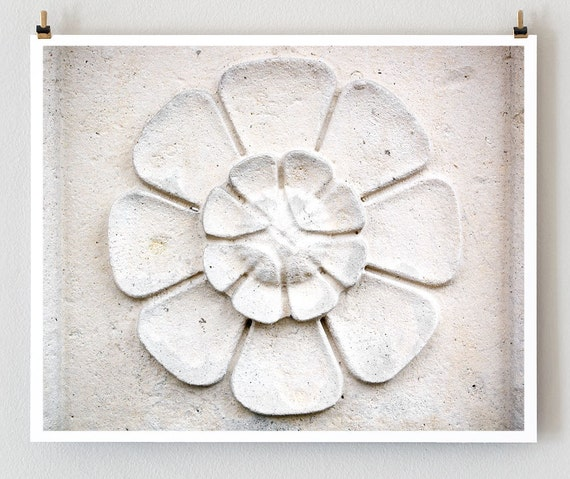 "Paris Photography, ""Stone Flower"" Paris Print, Large Art Print Fine Art Photography"