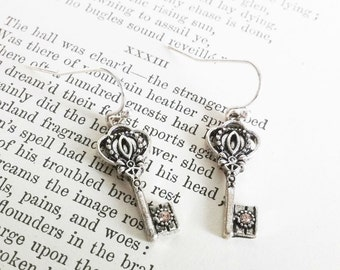 Silver Key Earrings