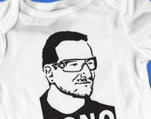 Hand Painted Bono with Short Hair Baby Bodysuit or Kid's T-Shirt (pick your size) Baby Shower Gift, First Birthday Gift, rock star, U2