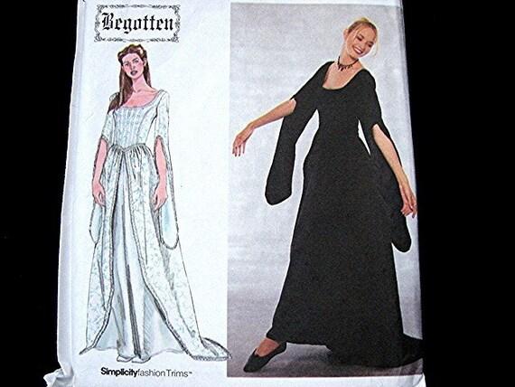 Begotten Medieval Renaissance Costume Gown Dress Pattern Simplicity Costume Pattern size Misses 12 14 16 18 UNCUT perfect Wedding Dress