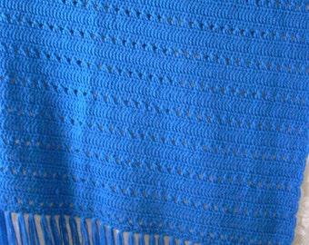 Blue Skies Afghan