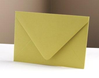"""10 Chartreuse (Green) RSVP Envelopes . 4Bar Envelopes . 3.625"""" x 5.125"""""""