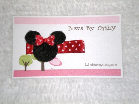 Red Minnie Mouse Hair Clip