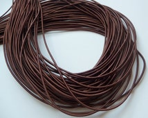 5Yards 2mm Elastic in Brown ..For Stationary, Accessories, Jewelry, Stationary