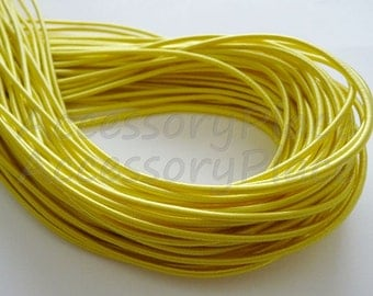 Satin Elastic in Yellow ..For Stationary..Hair Accessories, Jewelry, Stationary 5Yards 2.80mm Thickness